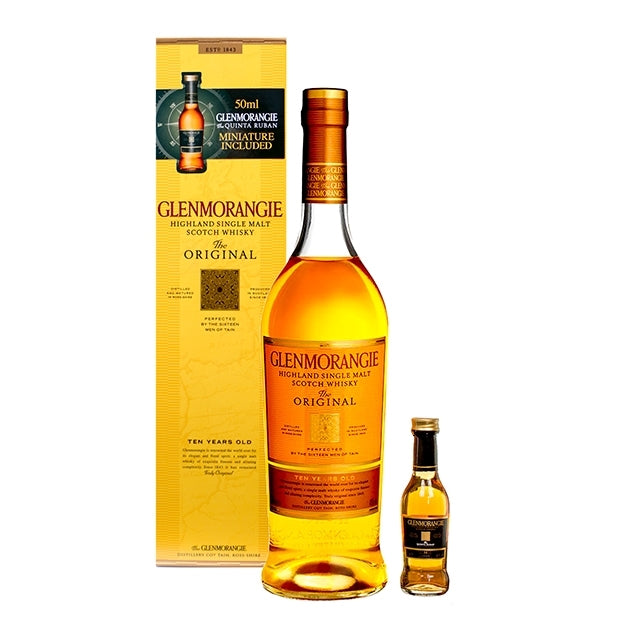 Glenmorangie 10 year old & Miniature