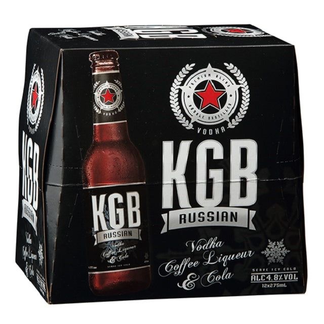 KGB Black 12pack bottles