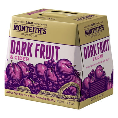 Monteiths Dark Fruits Cider 12 pack
