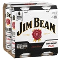 Jim Beam Sugar Free 440ml 4 pack