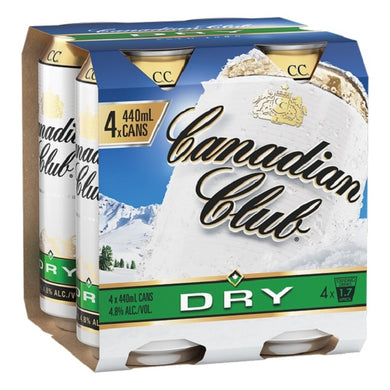 Canadian Club 440ml 4 pack