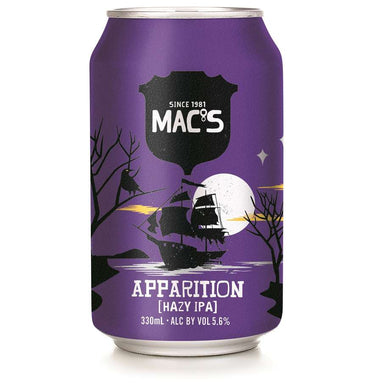 Mac's Apparition Hazy IPA 6 pack cans