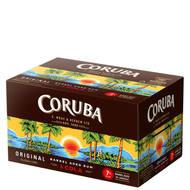 Coruba & Cola 12 pack 7% Cans