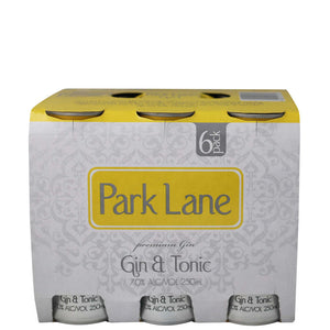 Park Lane Gin & Tonic 7% 250ml 6 pack