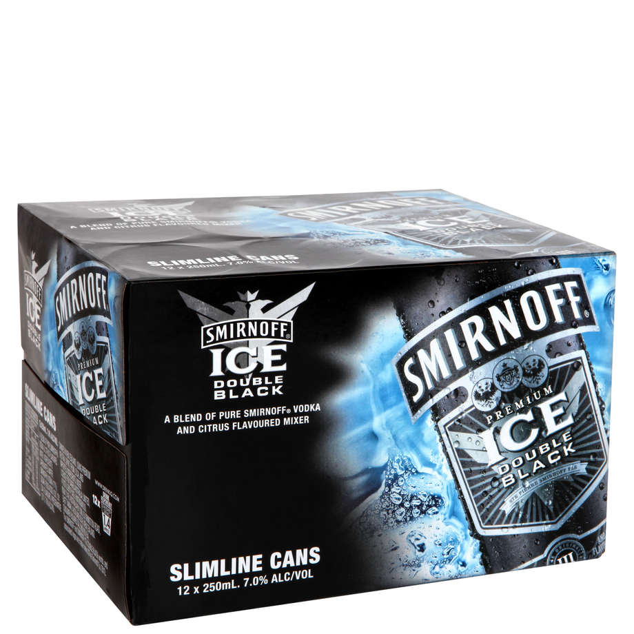 Smirnoff Black Ice 12 pack cans