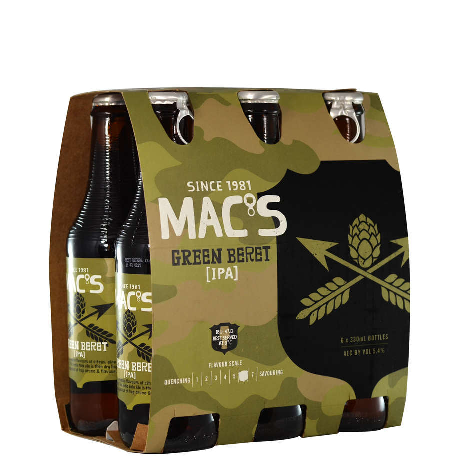 Mac's Green Beret 6 Pack 330ml