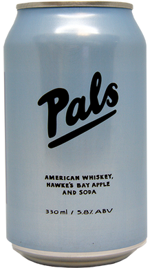 Pals American Whiskey, Apple & Soda 10 pack cans