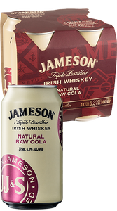 Jamesons & Cola 4 pack cans