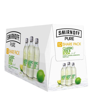 Smirnoff Pure Lime 10 pack bottles