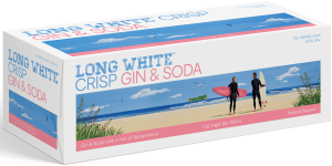 Long White Crisp Gin & Watermelon 10 pack cans