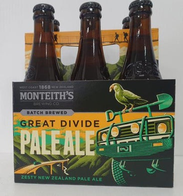 Monteith's Great Divide Pale Ale 6 pack