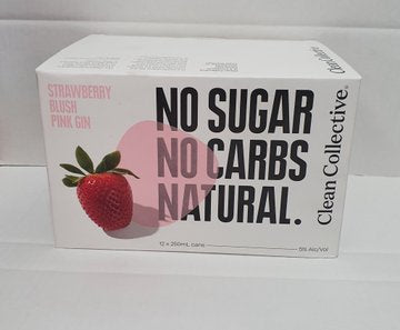 Clean Co Strawberry 12 pack cans
