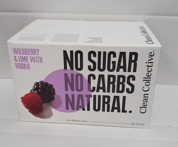Clean Co Wildberry 12 pack cans