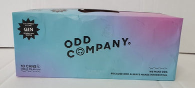 Odd Company Cucumber & Lime 10 pack 330ml cans