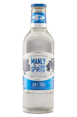 Manly Spirits Dry Gin and Tonic 4 pack