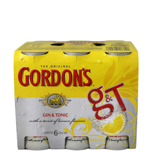 Gordons G&T 6 pack cans