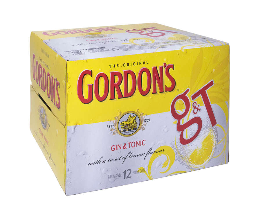 Gordon's Gin & Tonic 7% 12 pack cans