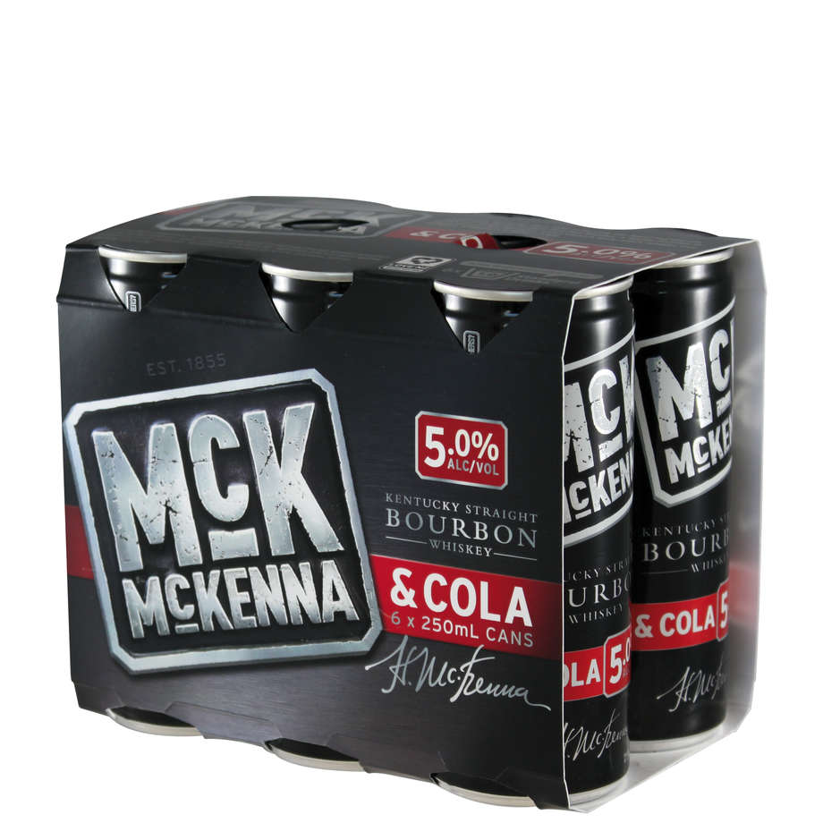 McKenna & Cola 6 pack cans