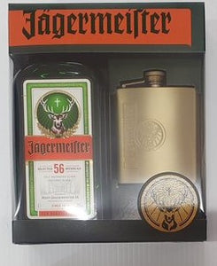 Jagermeister Gold Hip Flask Gift Pack