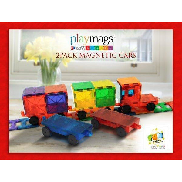 Playmags 3D Clear Colour 2-Pack Magnetic Cars