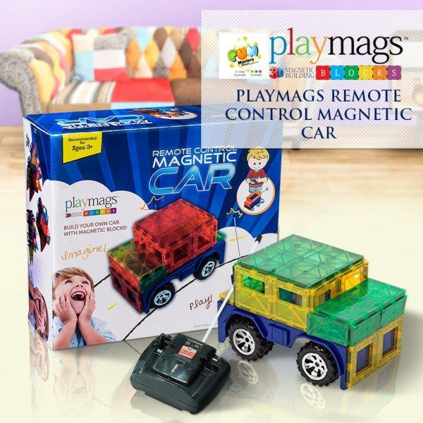Playmags 3D Clear Colour Magnetic Remote Control Car