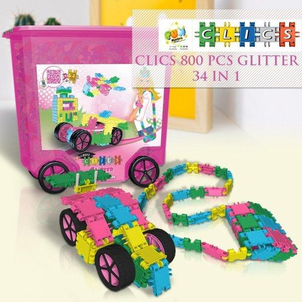 CLICS Glitter 800 Pieces 34-In-1