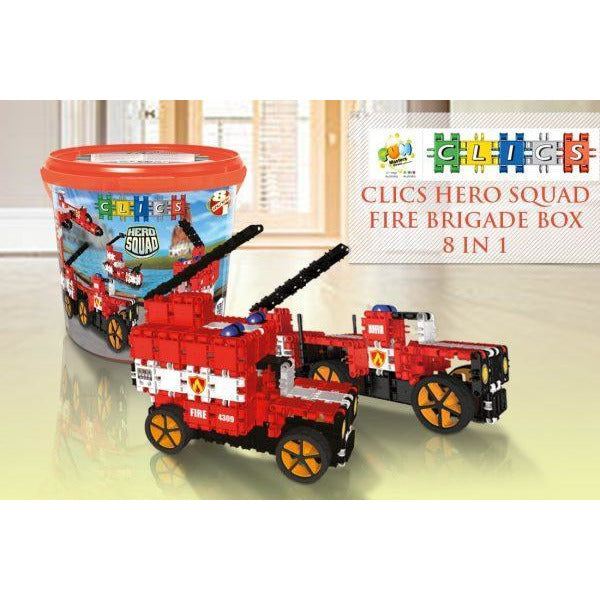 Hero Squad FIRE Brigade Drum 8-In-1