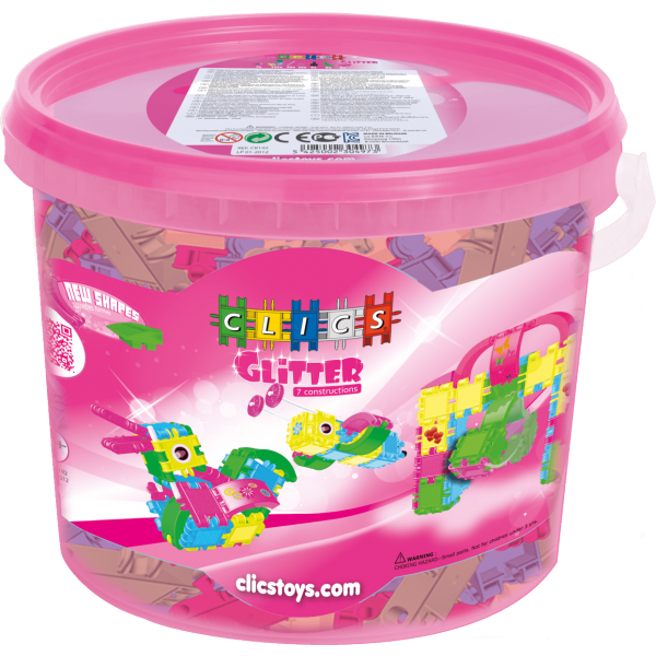 GLITTER Bucket 165 Pieces