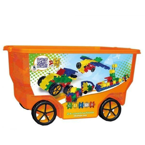 Build & Play 400 Pieces In Orange Roller Box 24-in-1