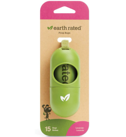 Earth Rated Dispensador + Rollo de Recarga 15 Bolsas