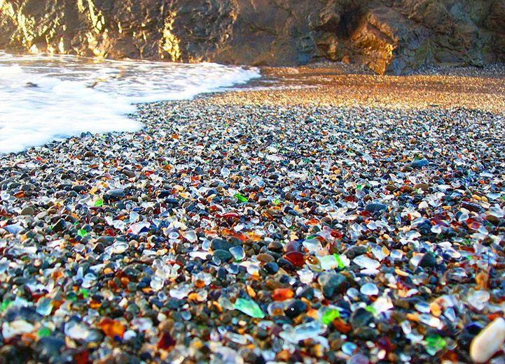 A REAL LIFE Glass Beach in California
