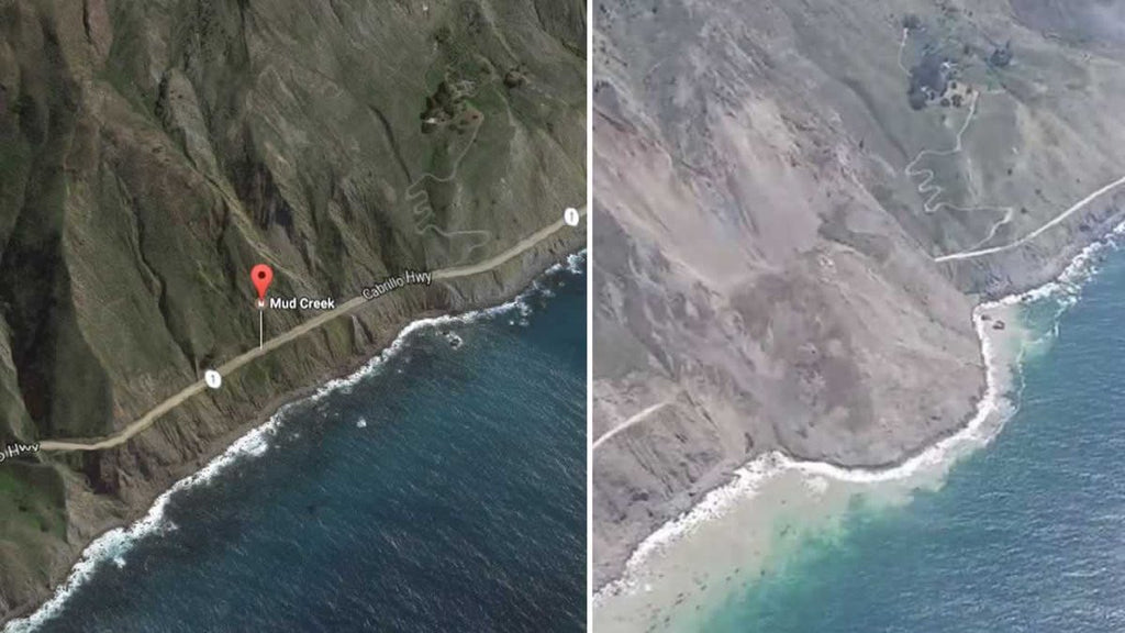 BREAKING NEWS - Big Sur landslide. Largest In California History