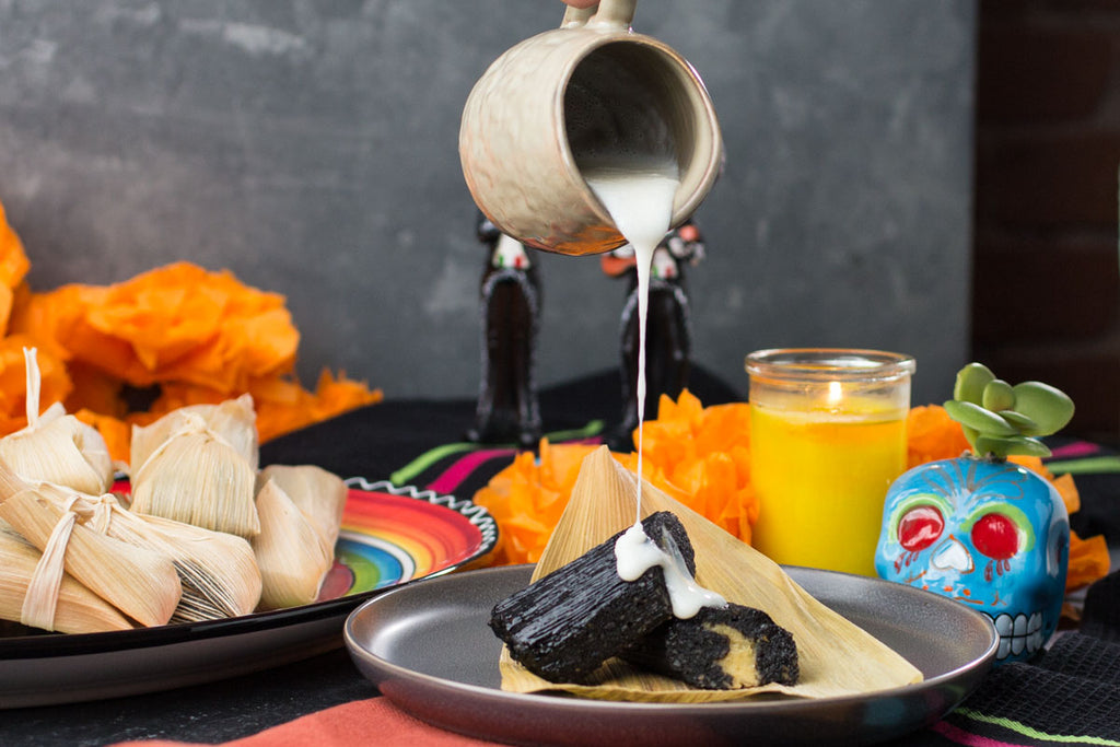 Pitch-Black Dessert Tamales Are The Treat YOU Want For Dia De Los Muertos