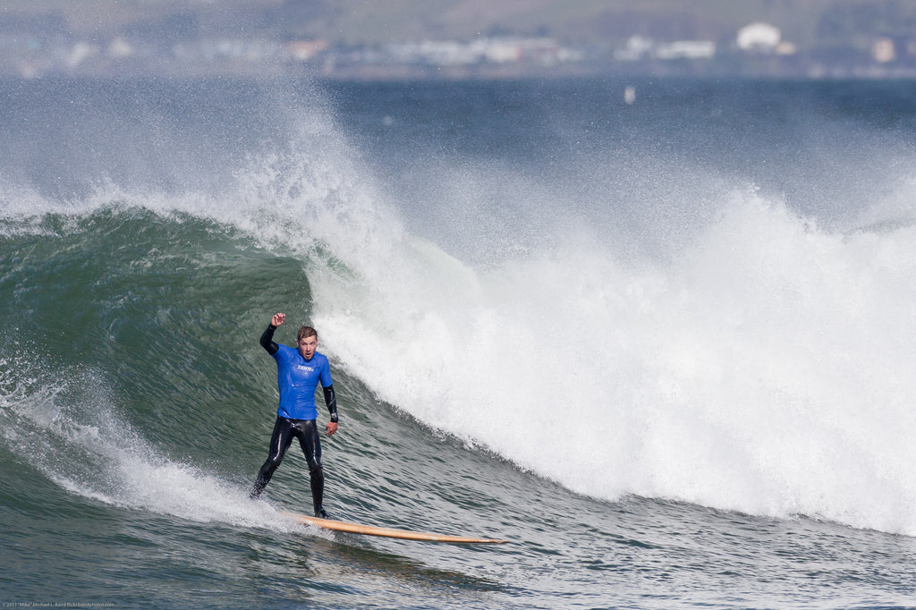 Surfing at the Big, Bad, & Ugly Surf Contest, in Morro Bay, CA 1