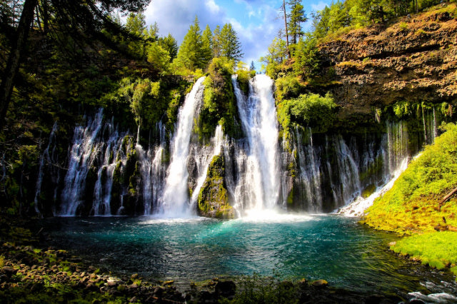 california places northern burney falls ten waterfalls nature waterfall bucket place state spots californiathroughmylens photogenic sacramento mcarthur photograph adventures macarthur