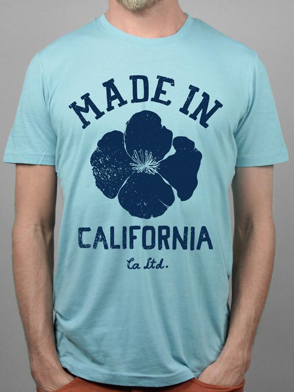 Blue Made In California Tee
