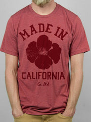 Brick Red Made In California Tee