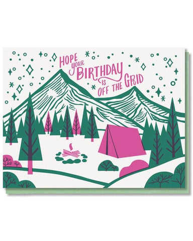 Happy Birthday Off the Grid Card