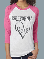 Ca Love Baseball Tee