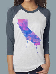 Watercolor Baseball Tee