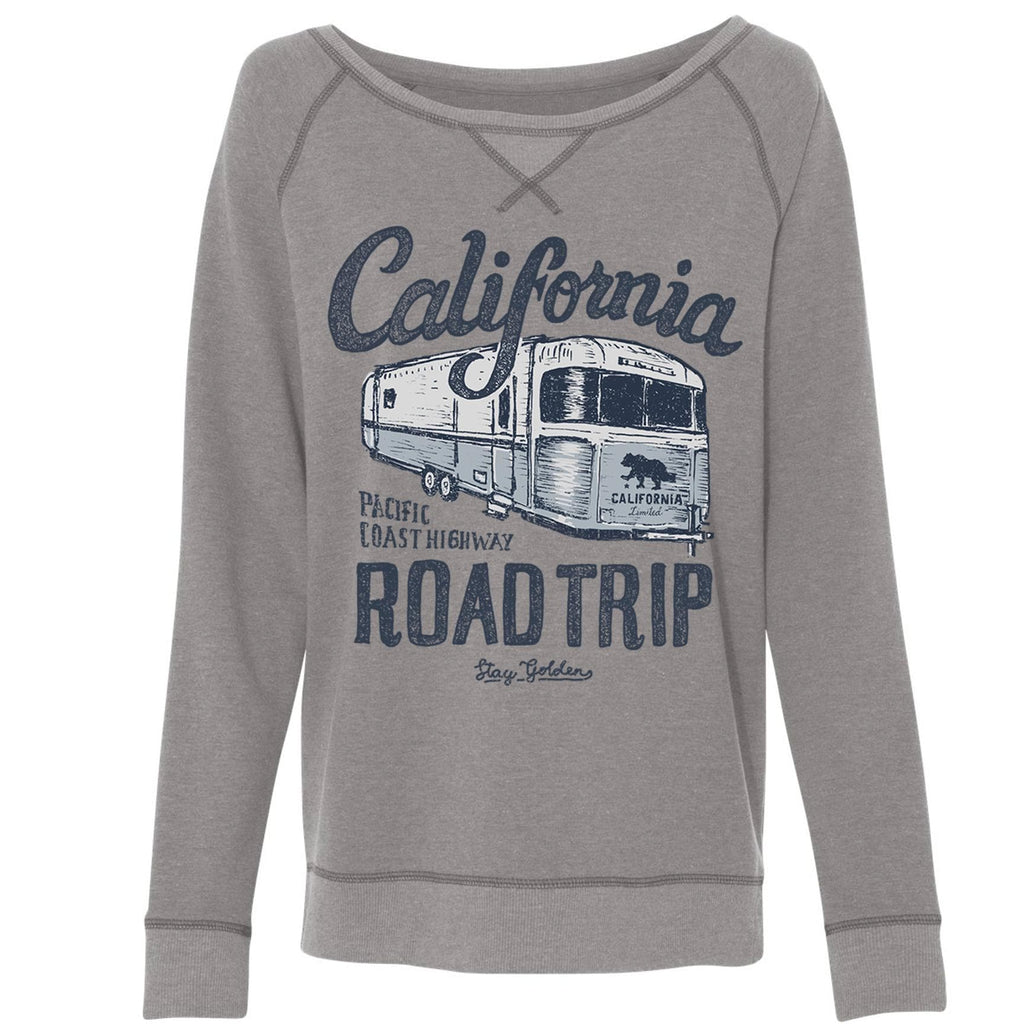 California Roadtrip Grey Varsity Sweater-Sweaters-CA LIMITED