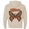 Ivory Butterfly Zip Up Hoodie