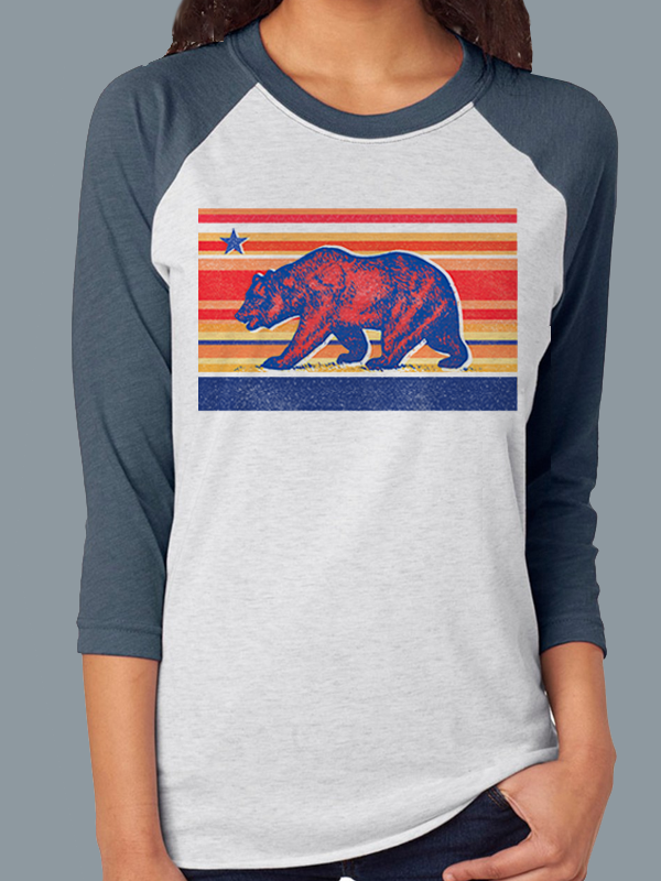 Sunset Bear Baseball Tee