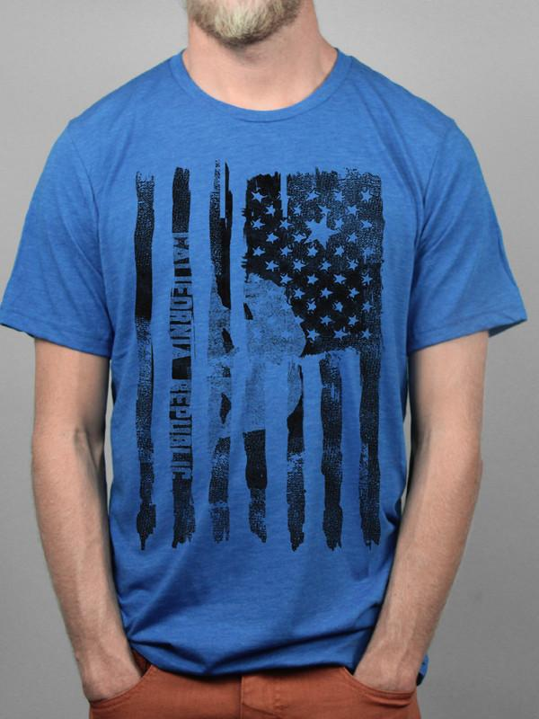 Blue California Pride Flag Tee