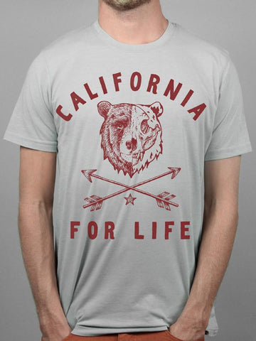 Grey California For Life Tee