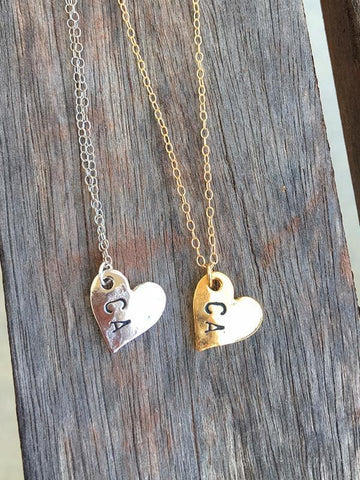 Floating Silver California heart necklace