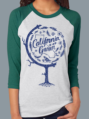 California Grown Globe Baseball Tee