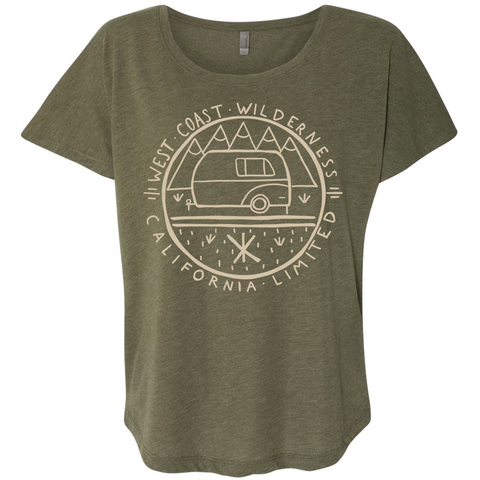 West Coast Wilderness Flowy Army Dolman