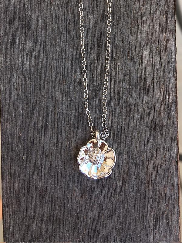 Gold rush necklace ca limited silver california poppy necklace aloadofball Choice Image
