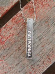 Silver 4 sided California Love Affair Necklace